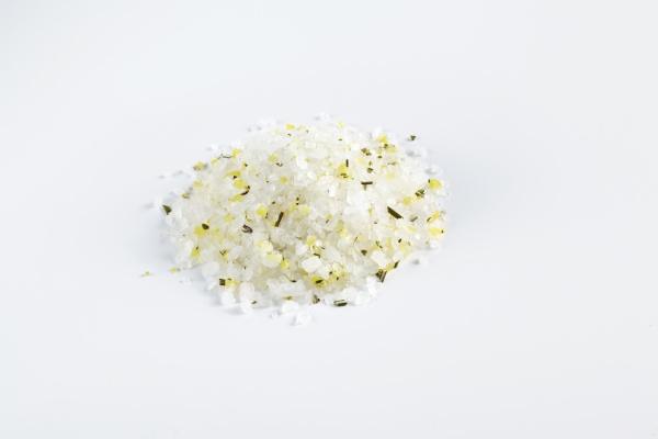 spice mixture with lemon zest