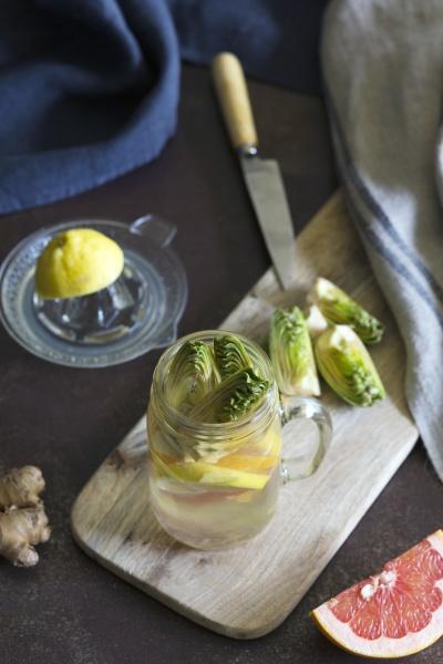 jar of fresh citrus beverage with