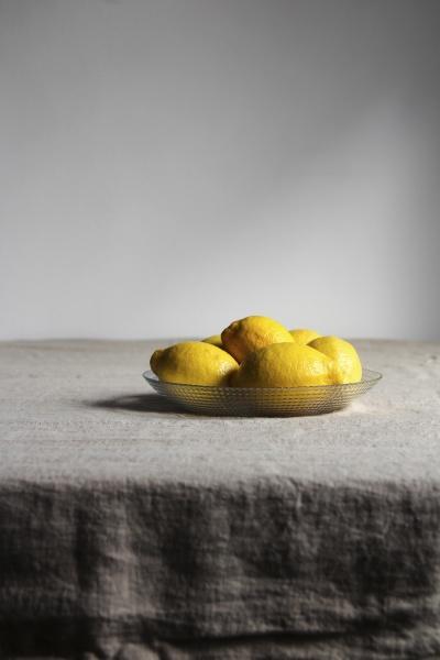 appetizing lemons with shiny yellow peel