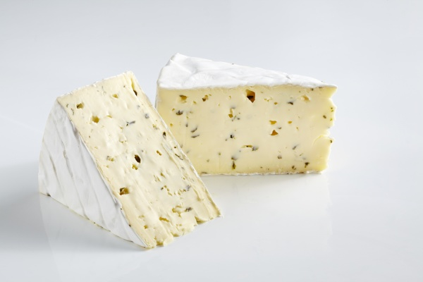 soft cheese with white mold and