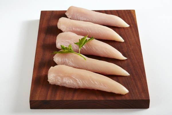 raw chicken breast fillets on a