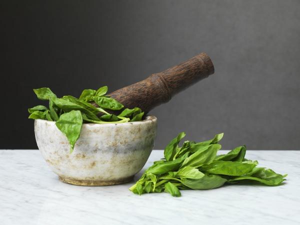 basil pestle and mortar