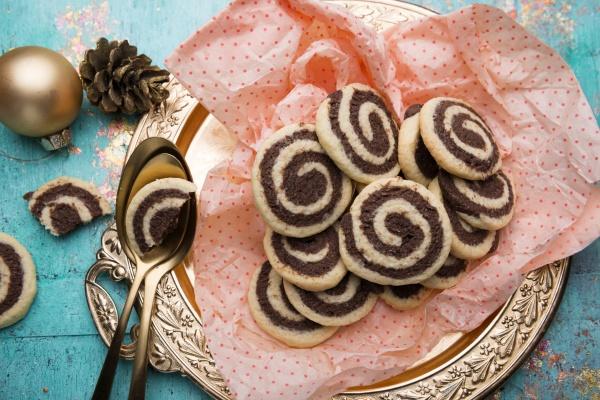 vegan black and white pastries