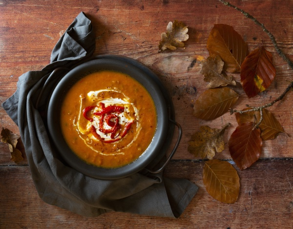 roast red pepper and carrot soup