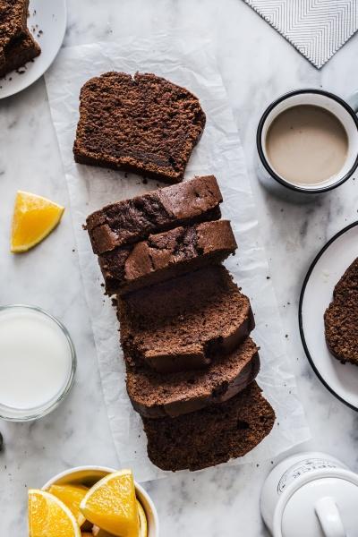 chocolate and coffee plumcake