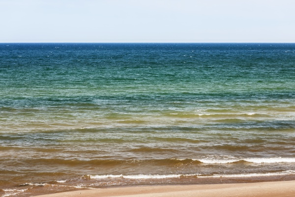 the sea surface of the baltic
