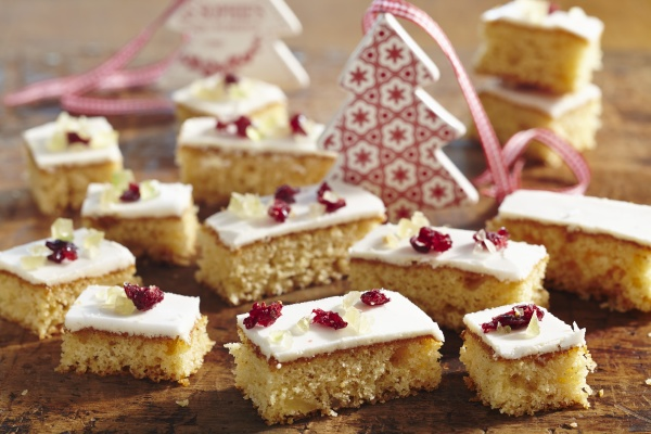 ginger slices with icing and candied