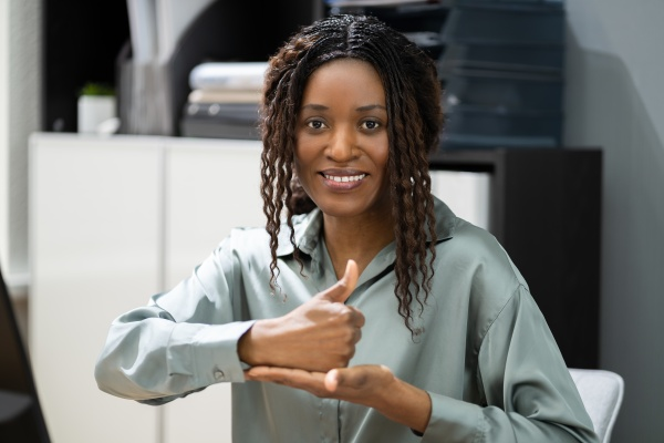 african american deaf sign language teacher