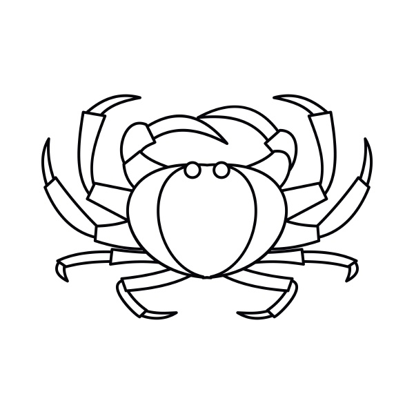 crab icon outline style