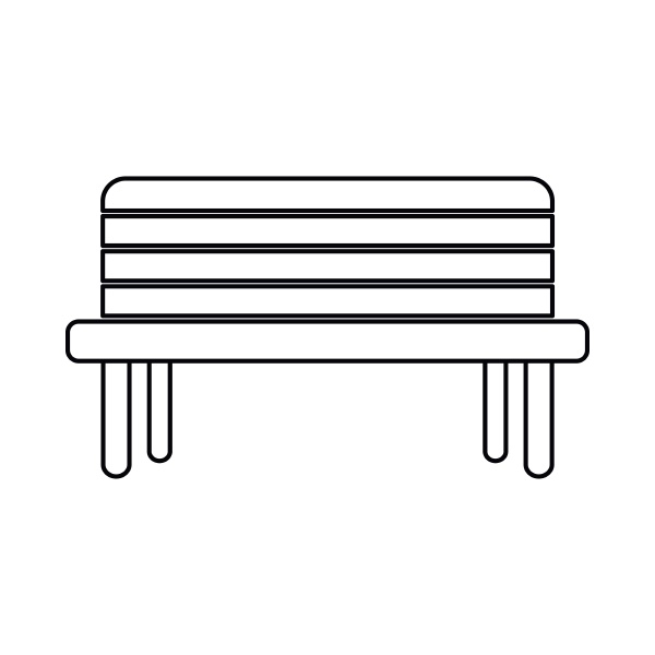 street bench icon outline style
