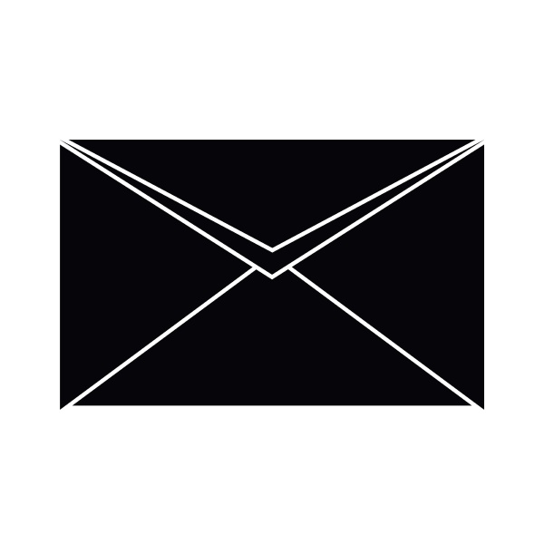 closed envelope icon simple style