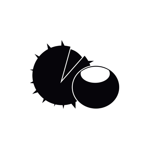 hazelnuts icon simple style