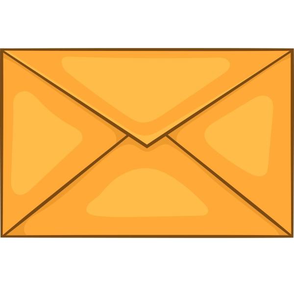 envelope icon cartoon style