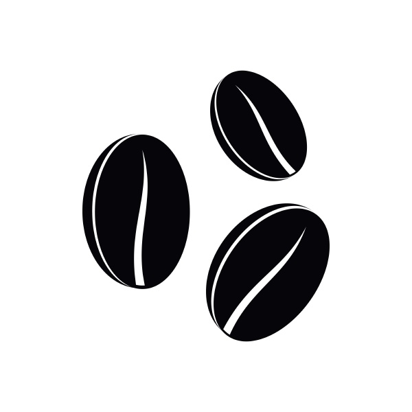 coffee beans icon simple style