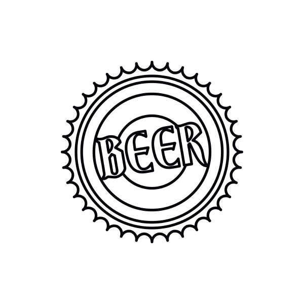 beer bottle cap icon outline