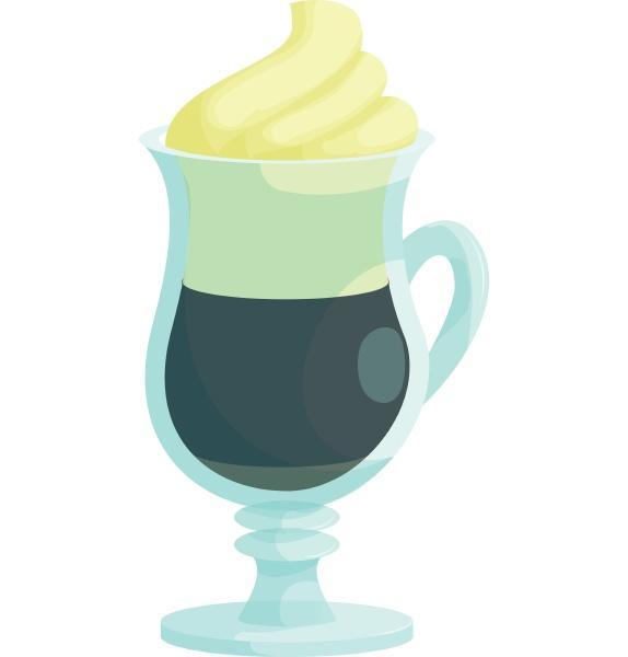 irish coffee icon cartoon style