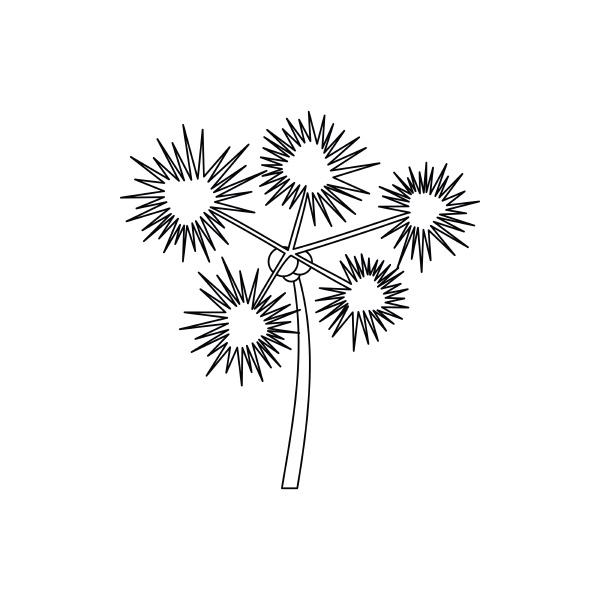 palm chamaerops icon outline style
