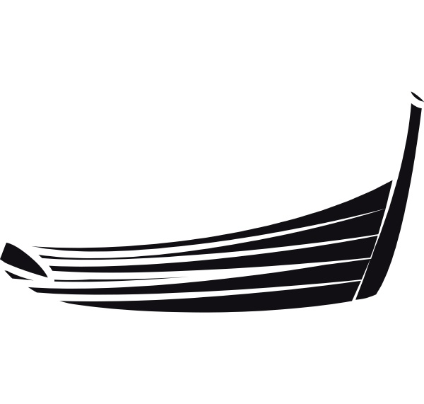 thai boat icon in simple style