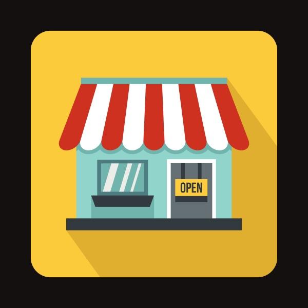 shop icon flat style