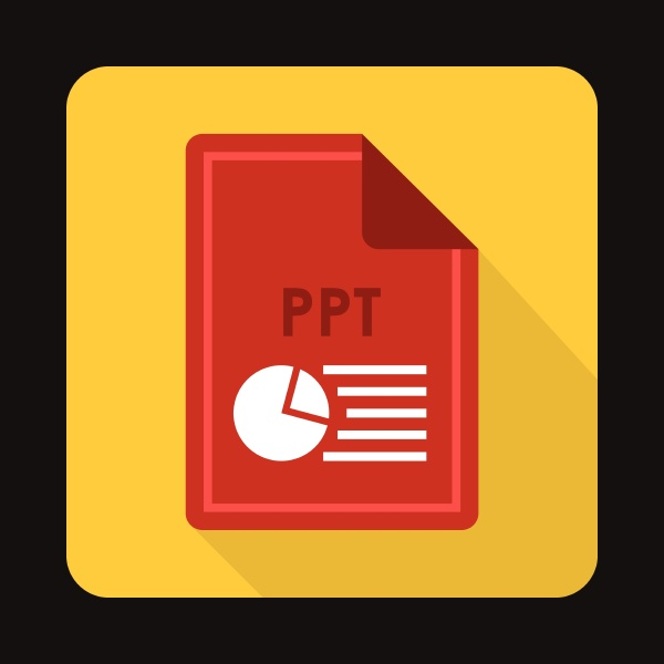 file ppt icon flat style