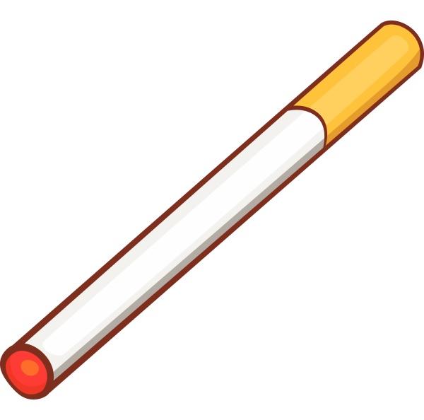cigarette icon cartoon style