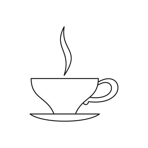 cup of tea icon outline style