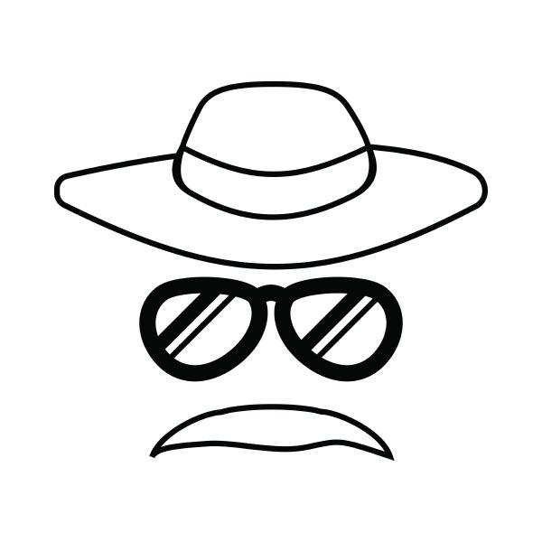 detective incognito icon outline style