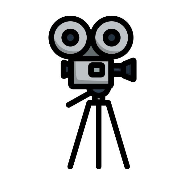 retro cinema camera icon