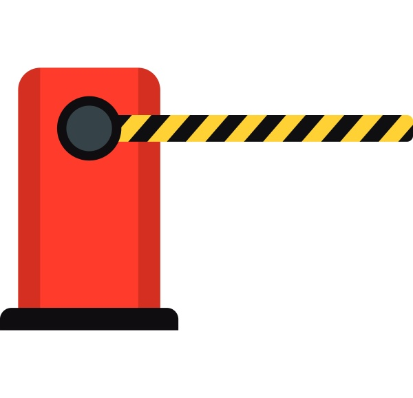 parking barrier icon flat style