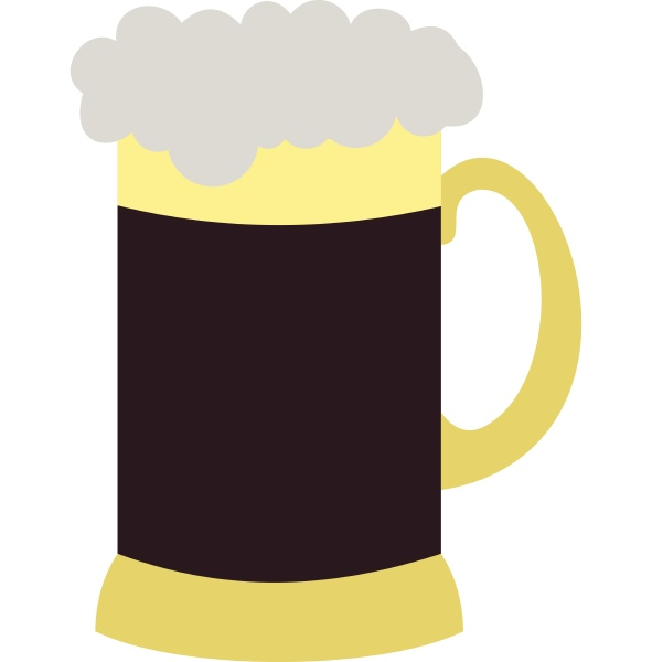 mug of beer icon flat style