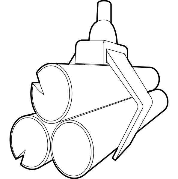 hydraulic crane with log icon outline