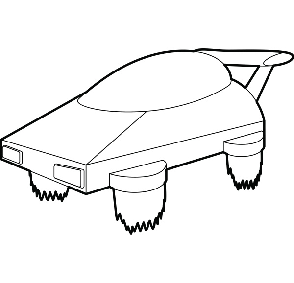 flying machine future icon outline style