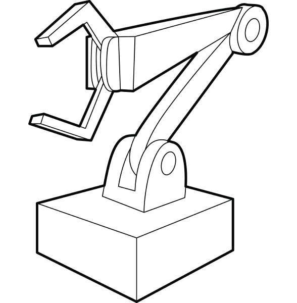 robotic arm icon outline style