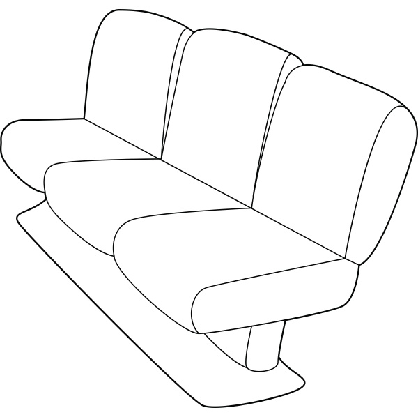 seat on plane icon outline style