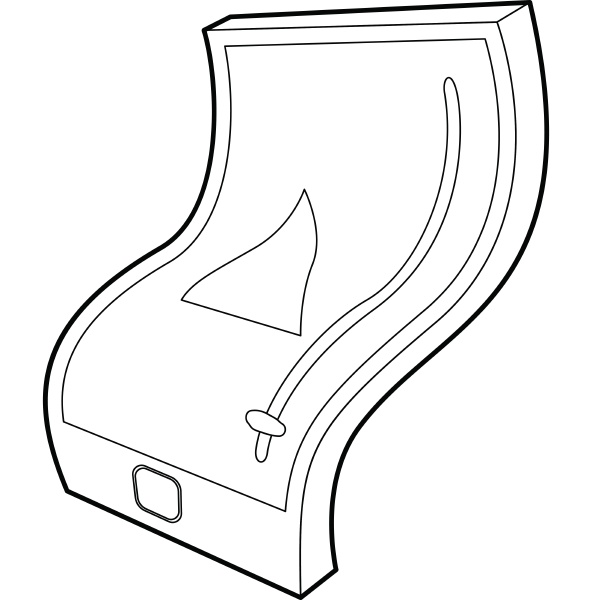 flexible tablet icon outline style