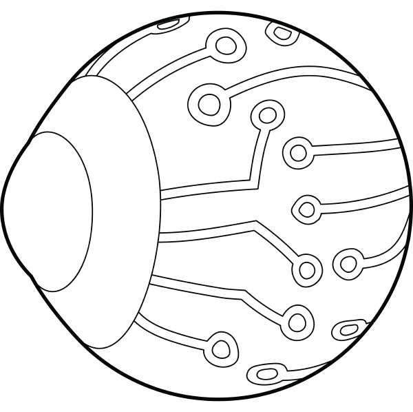 cyber eyes icon outline style