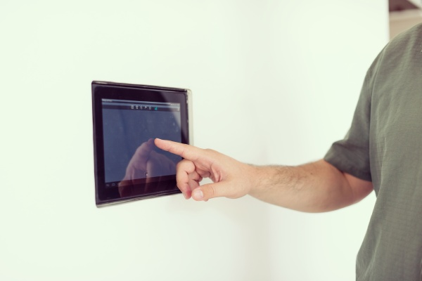 smart home and technology concept close