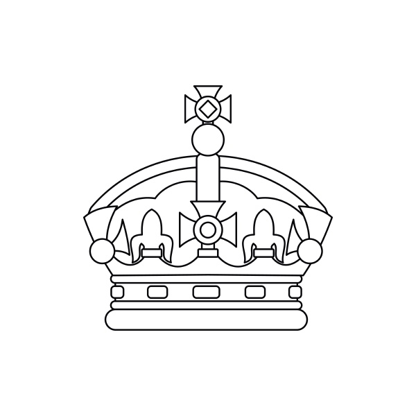 crown icon outline style