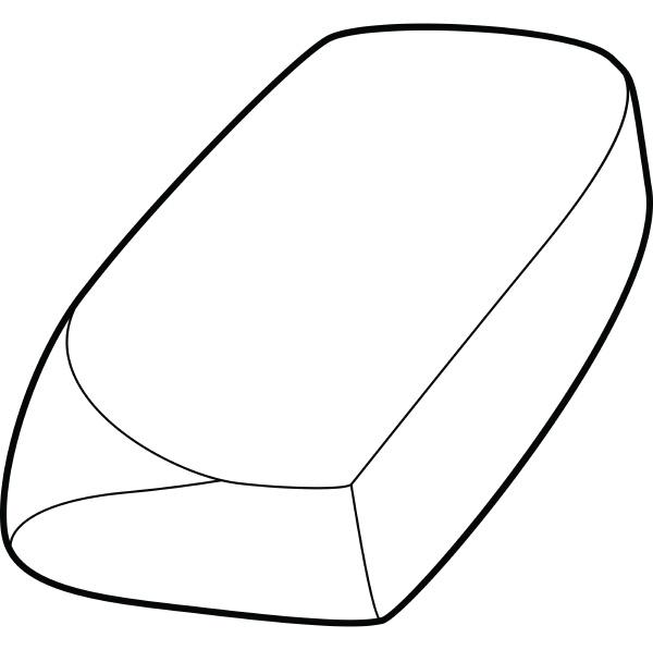 eraser icon outline style