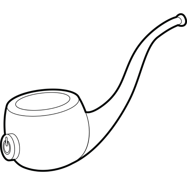 vape pipe icon outline style