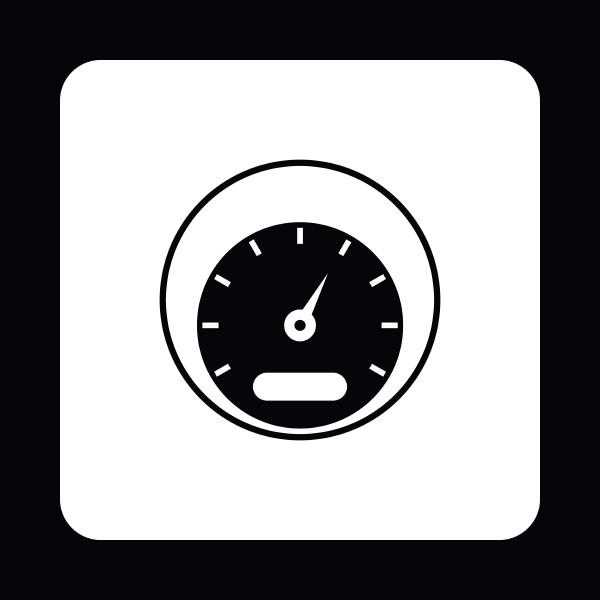 speedometer measuring scale icon