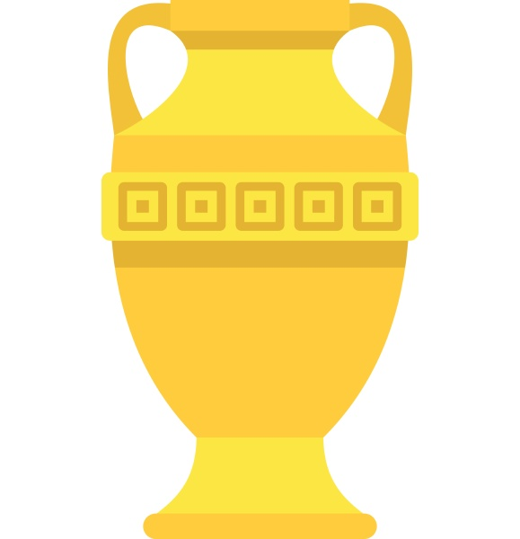ancient gold vase icon flat style