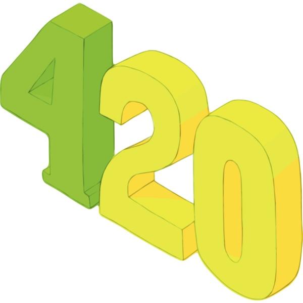four twenty icon cartoon style