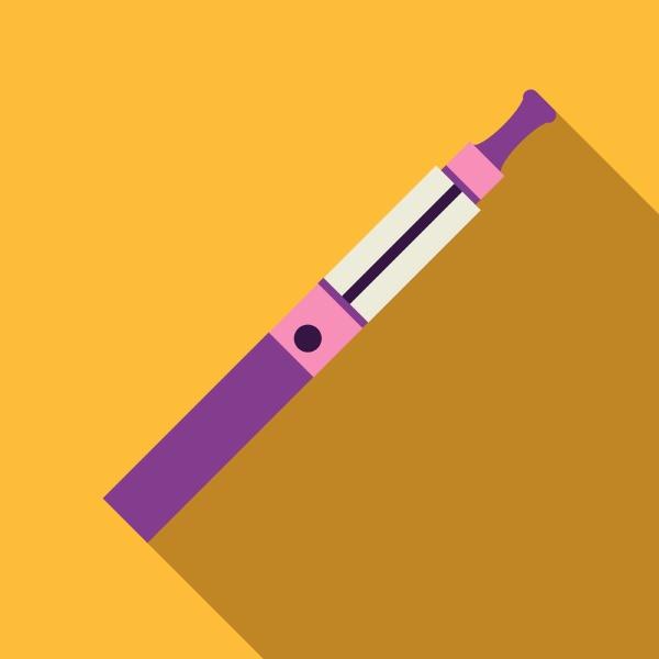 purple electronic cigarette icon flat style