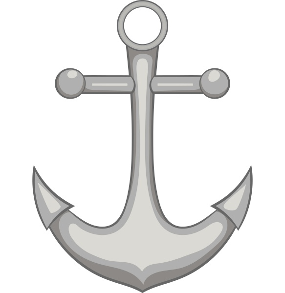 anchor icon black monochrome style