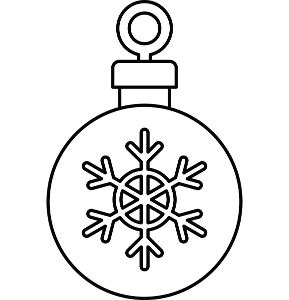christmas ball icon outline style