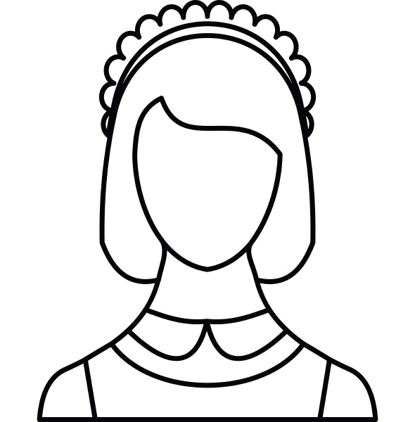 maid icon outline style