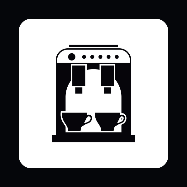 coffee maker icon simple style