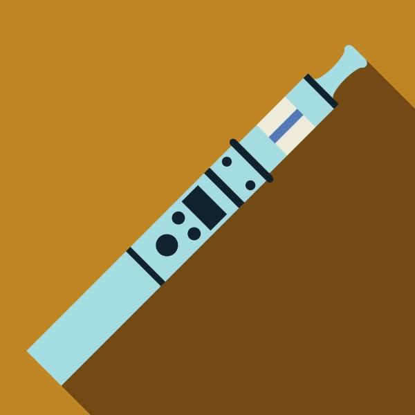 ultra modern electronic cigarette icon flat