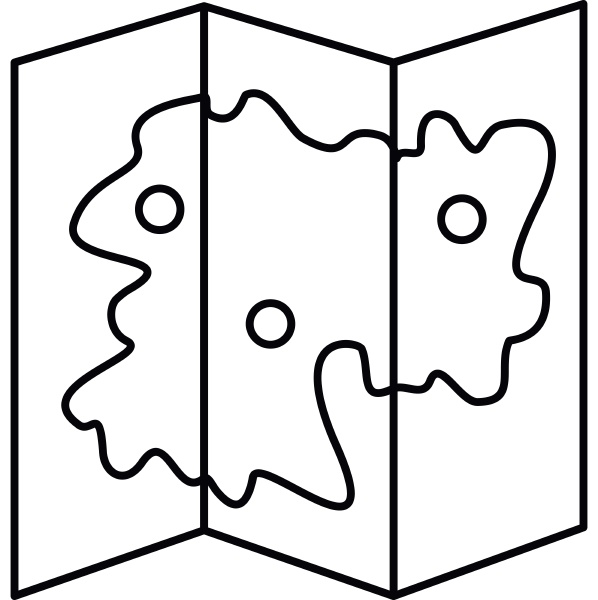 map icon in outline style